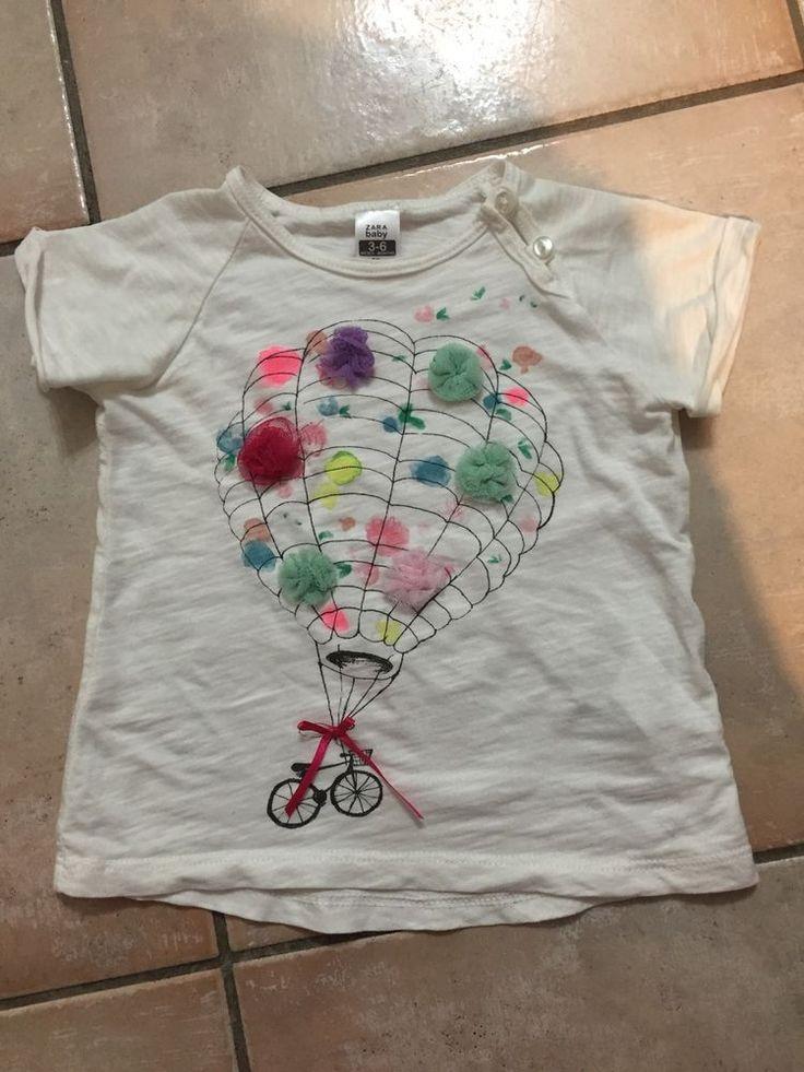 Cute Zara Tshirt Size 00 3-6m