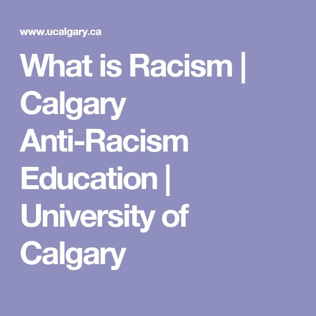What is Racism | Calgary Anti-Racism Education | University of Calgary