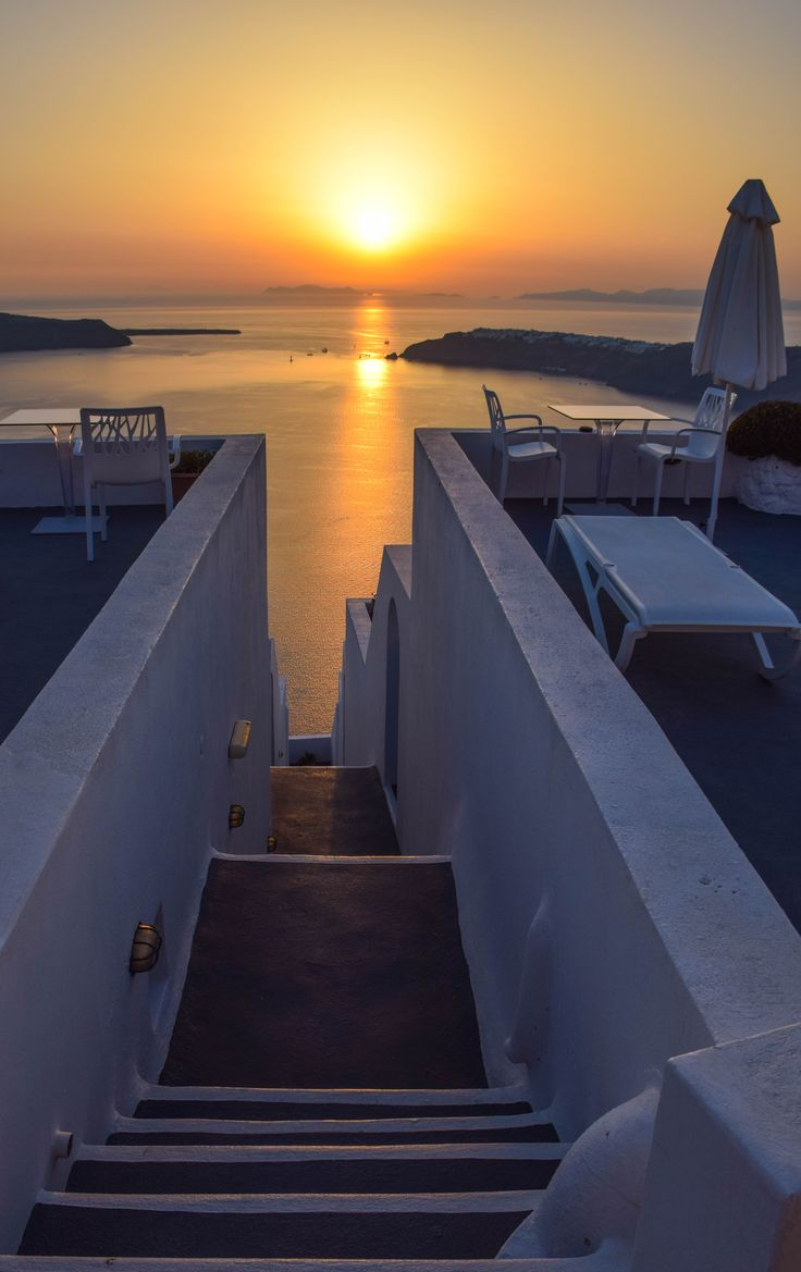 Sunset views from Imerovigli - Santorini, Greece