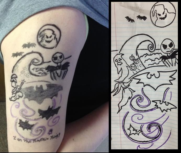 Nightmare Before Christmas Tattoo Drawings