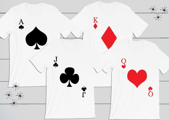 Playing Cards Group Halloween Costume Club, Hearts, Spade, Diamond