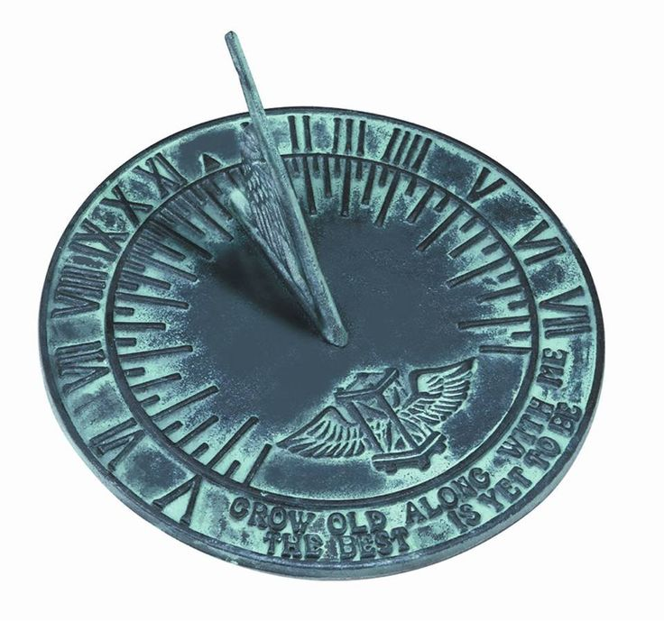 Cast Iron Sundials for $27.99. Garden sundial with Salem theme that depicts winged hourglass of time flying.