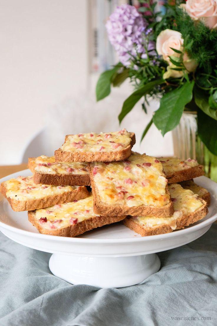 Quadratisch, praktisch, lecker: Flammkuchen Toast (Rezept)