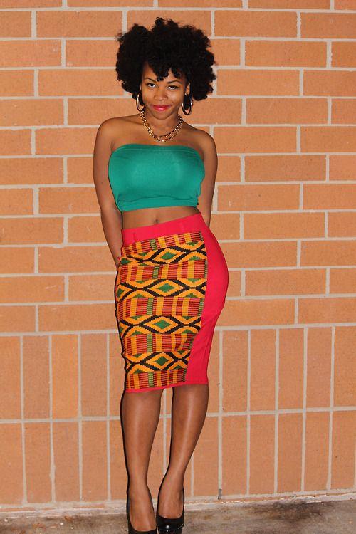 LiberNation Oshun Pencil Skirt #africaninspired #Kente