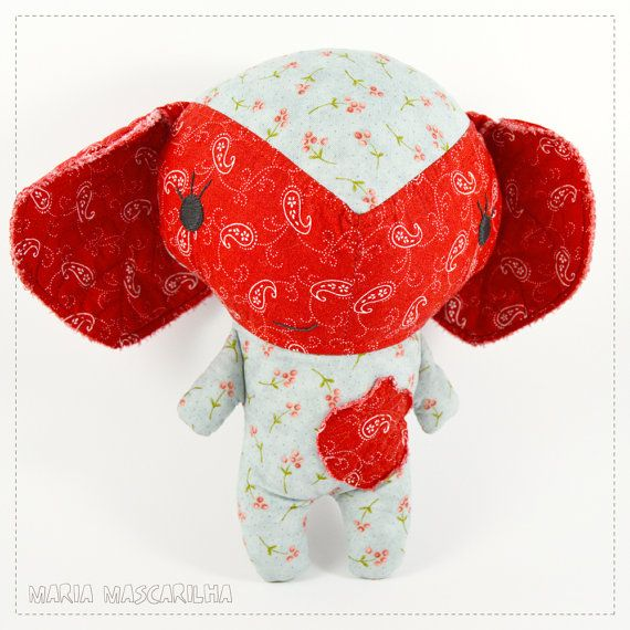 Pretty Amor  stuffed toy for children red and by MariaMascarilha