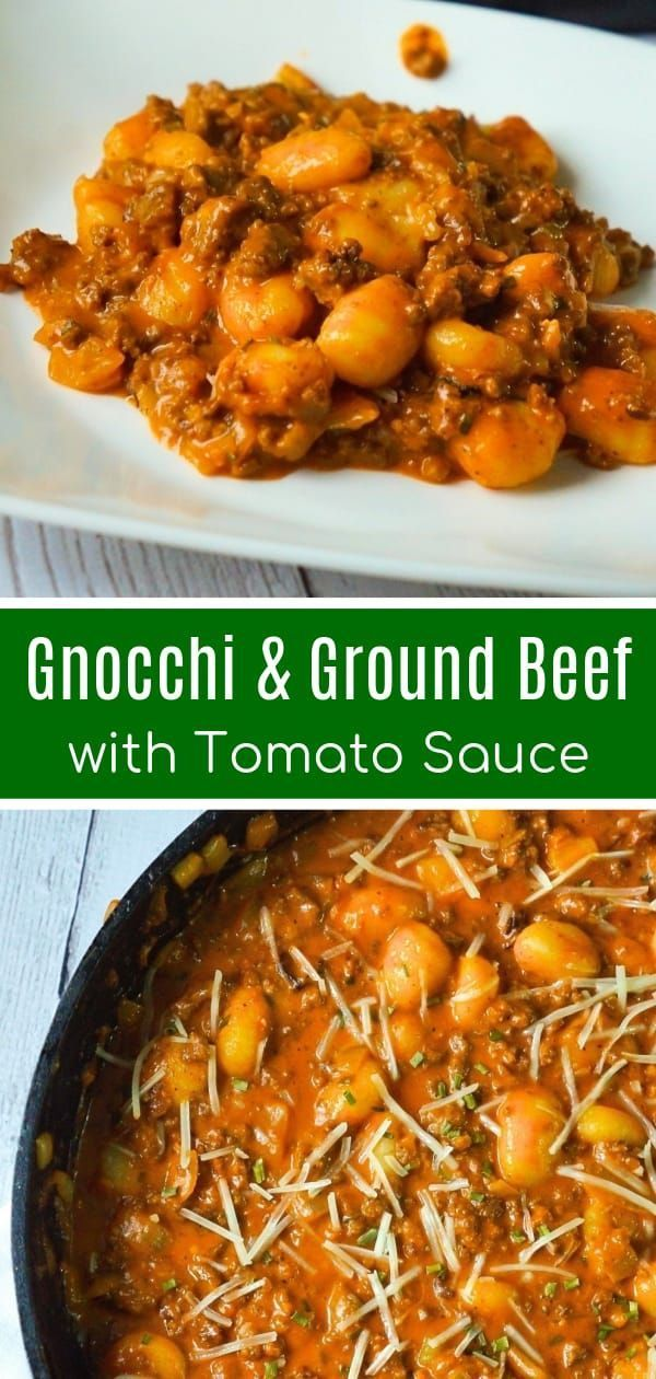 Gnocchi And Ground Beef With Tomato Sauce Is An Easy Weeknight Dinner Recipe That Takes Gnocchi Recipes Easy Weeknight Dinner Recipes Easy Fast Dinner Recipes