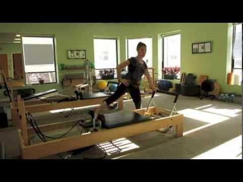 Pilates Reformer- No Springs - YouTube