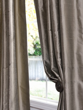 Thai silk & Dupioni silk woven together - flannel and cotton linings