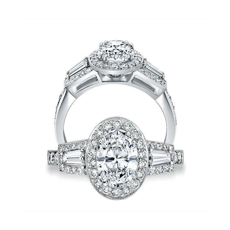 Art Deco Oval Cut Ring   #paulbram   #exquisite #diamonds
