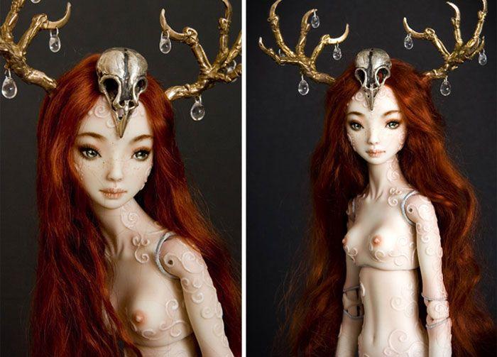 Handmade Adult Porcelain Enchanted Dolls - Marina Bychkova