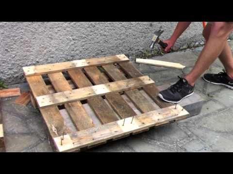 TUTO, fabriquer un bac à jardiner en bois de palette (incroyables comestibles) - YouTube
