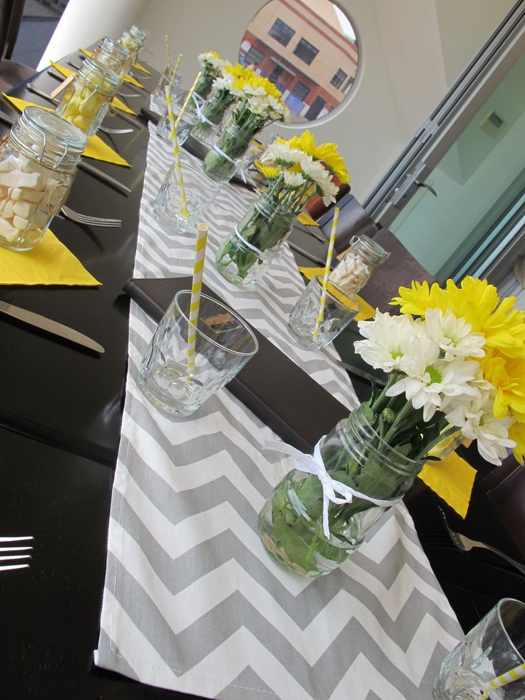 Gray & Yellow baby shower - great colors
