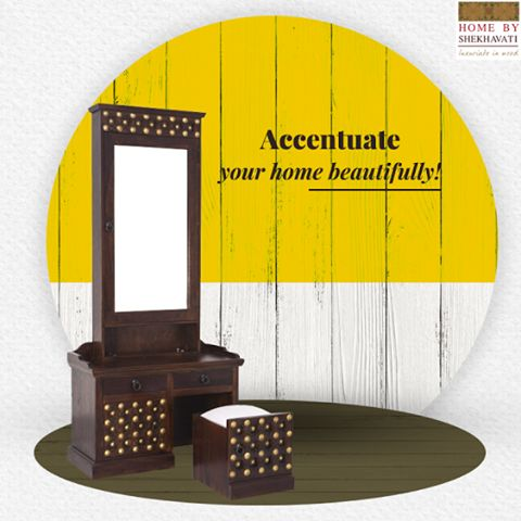 Envisioned with utility to fulfil your furniture needs, these smart creatures are sure to look elegant in beautiful homes. Soak them in your loved things, they are sure to win your admiration.  To add the beauty to your space visit : http://bit.ly/HBS_DressingTable