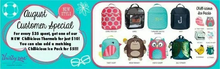 Call me for more details.....Miranda :) www.mythirtyone.com/456621 863-409-5172 organizedfashion31@gmail.com #31 #monthlyspecial #august #chillicious #thermal #spend35 #getitfor10 #yay