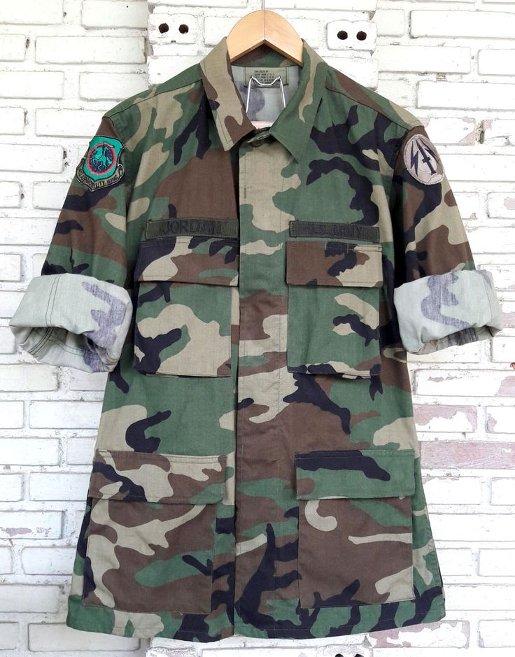 Vintage US Army Military Camo Jacket / Vintage US Military Camouflage Jacket / Vintage US Camo Jacket in Small Regular by KodChaPhornJacket465 on Etsy
