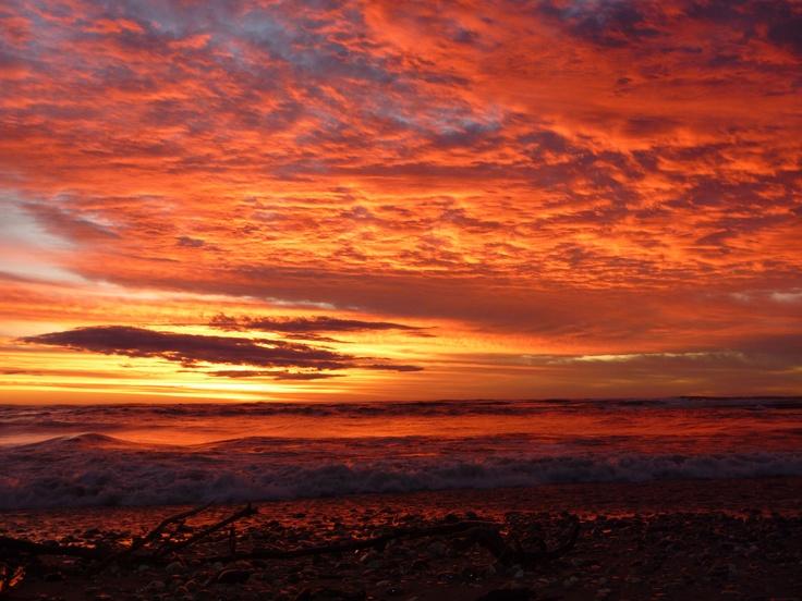 Hokitika sunset, New Zealand