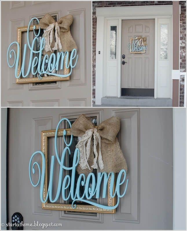 Front Door Decor Diy Welcome Signs