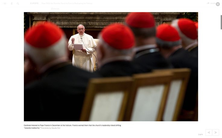NewYorkTimes - full screen image viewer, with prev/next navigation