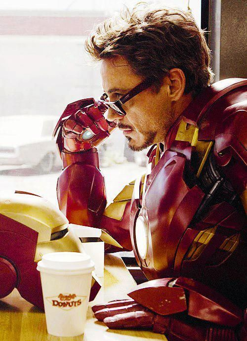 Man can't survive on arc reactor alone. coffee and donuts help.