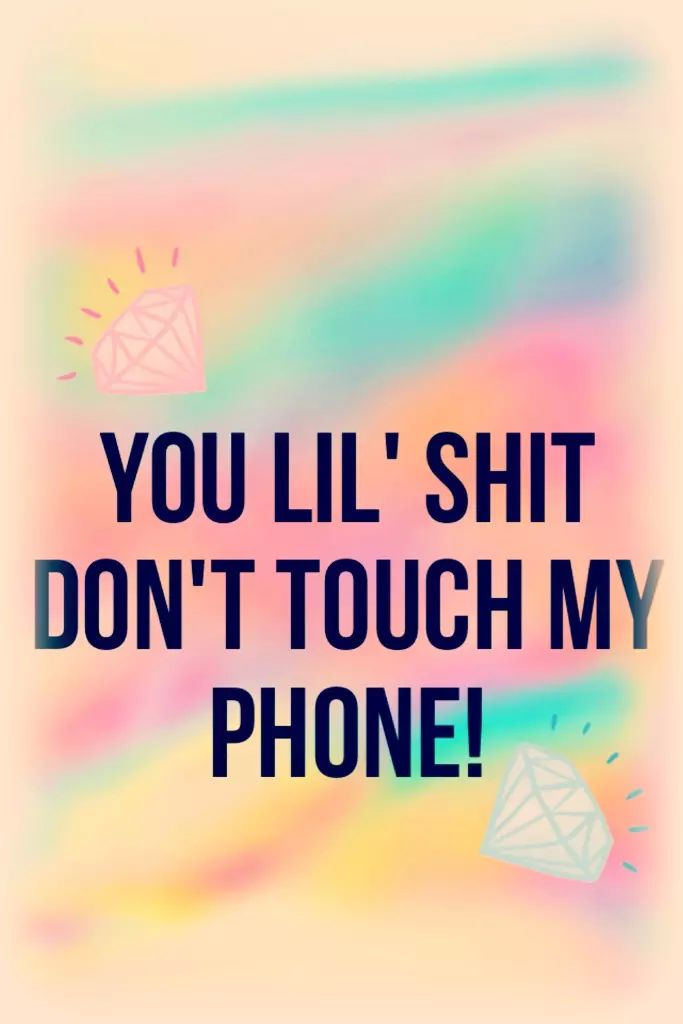 Don't touch my phone ^^ (self made) on We Heart It