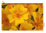 Tagette Marigold Blossoms Macro Carry-all Pouch by Sandra Foster