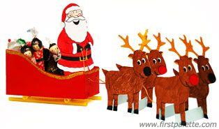 Santa Sleigh craft: Kids Christmas, Christmas Crafts, Christmas Crafts Wins, Winter Crafts, Xmas, Sleigh Crafts, Kids Crafts, Winter Christmas, Diy Christmas