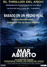 Open Water es una película estadounidense de terror del 2003 basada en la historia real de Tom y Eileen Lonergan. Fue dirigida por Chris Kentis y protagonizada por Daniel Travis y Blanchard Ryan, quien gracias a esta cinta ganó un premio Saturn como mejor actriz en 2005.