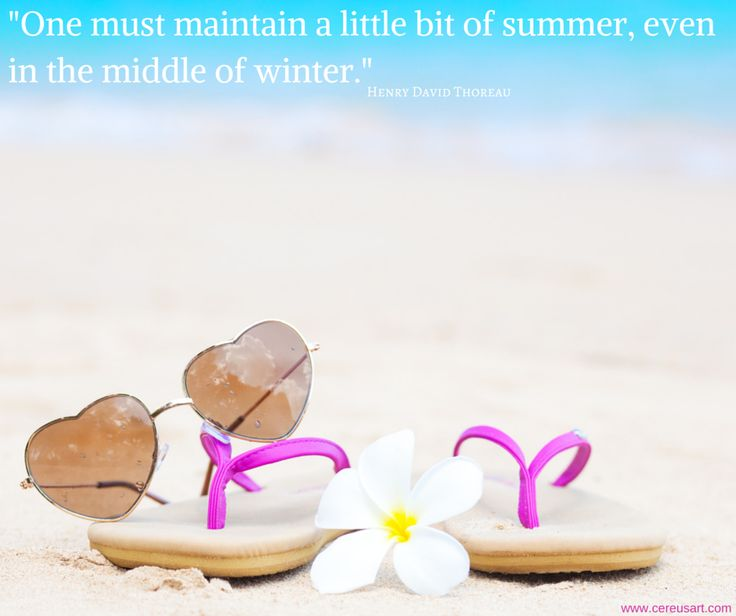 Beach Quote One Must Maintain A Little Bit Of Summer Even In The Middle Winter
