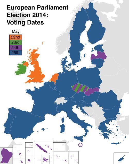 European Parliament Election 2014 Voting Dates