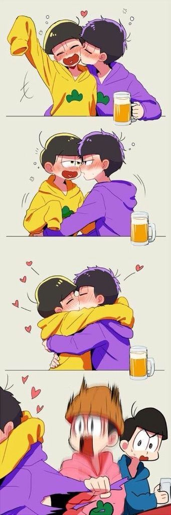 It's super duper cute!! Ichimatsu was drunk and so Jyushimatsu! They kissed , , Anime:- Osomatsu-San