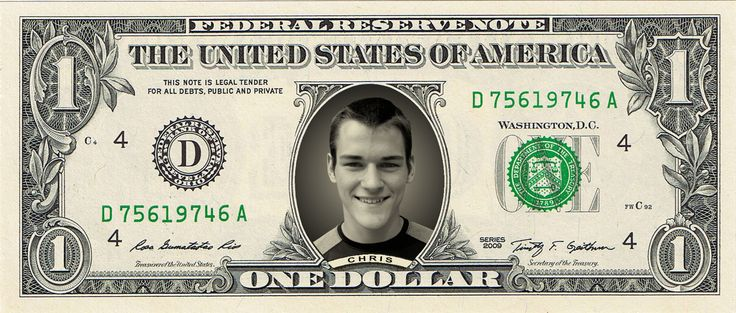 This is Chris. He's the guy who actually puts your picture on your dollar bill. By hand! With great precision and care. Then he carefully puts it in a protective clear vinyl sleeve so you and your friends can enjoy it for years.
