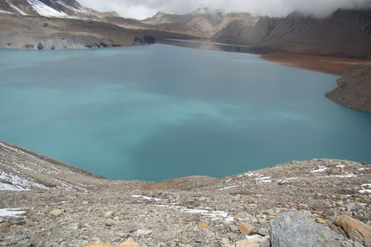 A beautiful Tilicho Lake in Nepal which is situated at the height of 4919 meter.