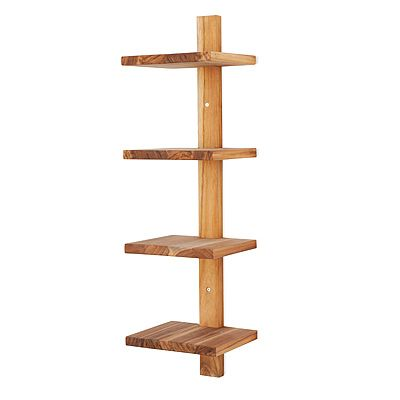 Minimalist furniture is like crack to me. I love this teak wood piece. But for $75.00 on Uncommon Goods? Why not do this same thing at home for a fraction of that??