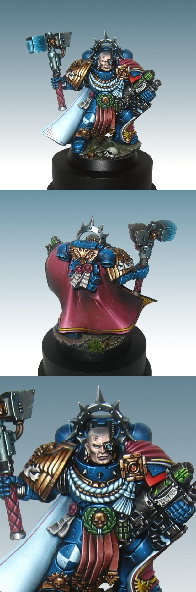 Space Marine Captain of the Ultramarines chapter.