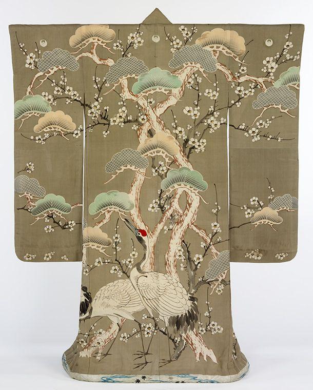 "Kimono, Japan, 1850-1900 from the exhibition ""Kimono: Decoration, Symbols & Motifs"" at the Victoria and Albert Museum, London."