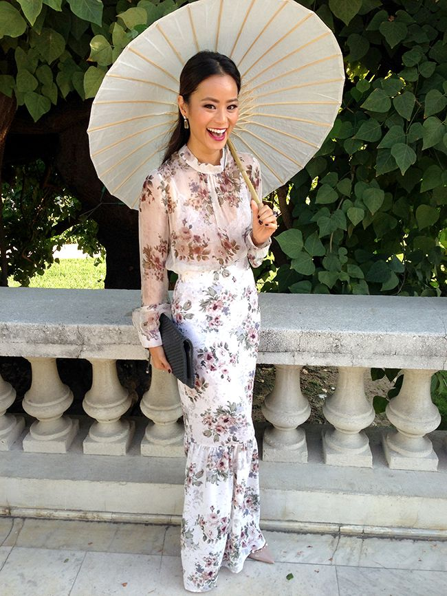 Perfect dress for a Garden Wedding via What the Chung?