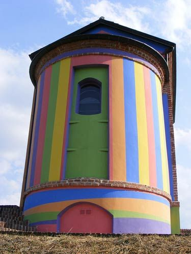 The Cappella della Madonna delle Grazie, also known as Santa Maria delle Grazie, is a singular, colorful chapel situated outside the medieval village of La Morra, on the Langhe hills of Piedmont.