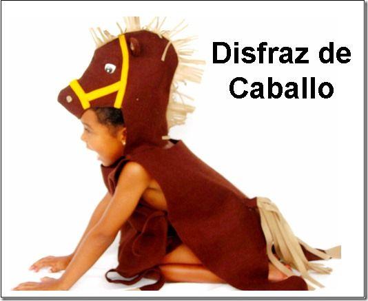 como hacer un disfraz de caballo para niño - Buscar con Google                                                                                                                                                     Más