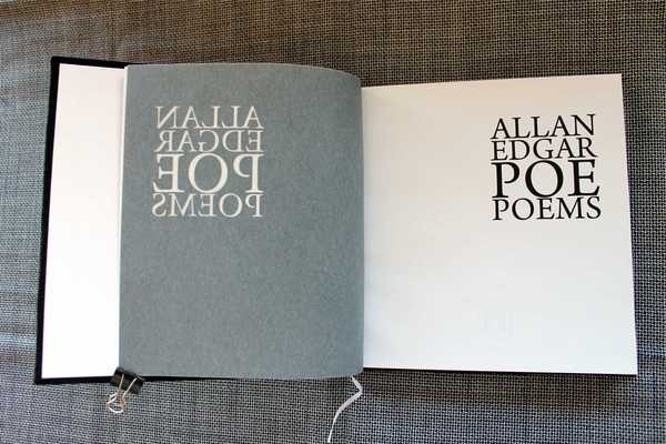 The Black Book, The Book of Poems