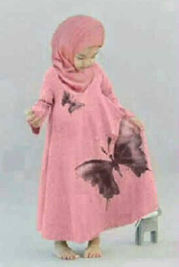 Butterfly Kid Set ( Maxi Dress + Pashmina ) Bahan Spandek     Untuk anak umur sampai 6 tahun     Lebar dada/panjang: 45/80cm     Harga : Rp. 77.000,-/set     Kode Produk / Product Code : BAP2847