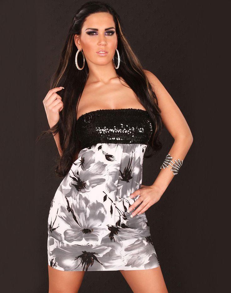 Wholesale New Fashion Casual Dress Sexy Women Clubwear DJ uniform Sequin Bandeau Top Dress White/Green/Red CB9512