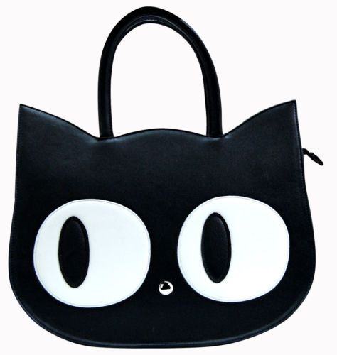 Banned-Apparel-Cat-Kitty-Paw-Large-Faux-Leather-Handbag-School-Uni-Shoulder-Bag