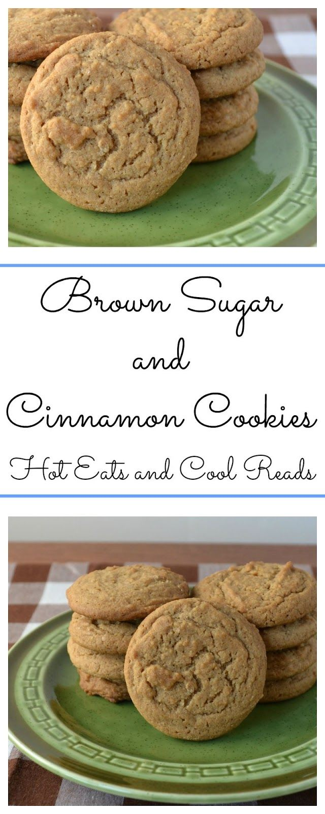 Easy to make and delicious too! Perfect for any cinnamon lover! Brown Sugar and Cinnamon Cookies Recipe from Hot Eats and Cool Reads