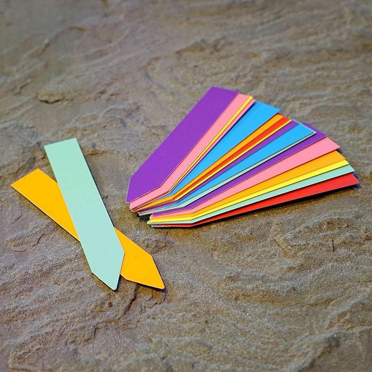 Plantetiketter 20-pack, blandade färger #Plantetiketter #Växtetiketter