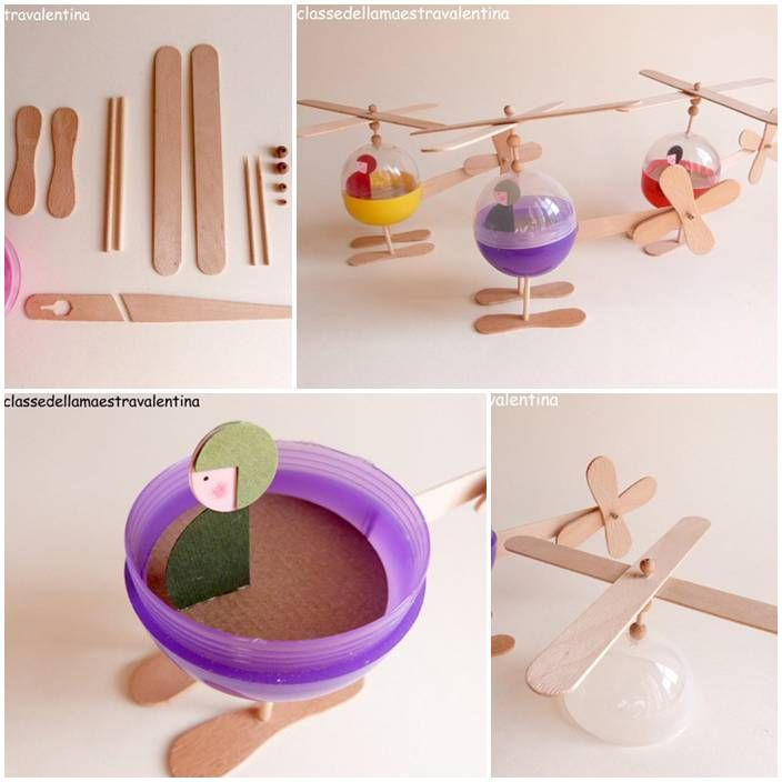 Here's the link to the tutorial >> DIY Toy Helicopter << by Mammabook >>> More Creative Ideas