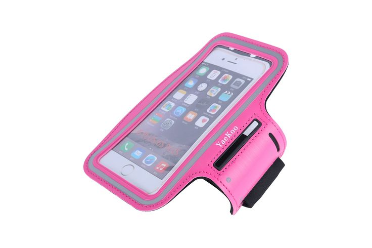 Yaekoo iPhone Armband for Running, Sport Exercise Gym Arm band Sleeve Case for iPhone Water Resistant + Sweat Proof + Key Holder + ID/Credit Card/Money Holder (Rosered, 5.5). Designed specifically for iPhone 6plus 5.5 inch. Material: Lightweight soft neoprene that is molded to twist and bend but will not stretch out of shape. Washable with gentle soap and water, then air dry. Can keep sweat away from your phone. Functionality: Exercise your right to a case is also a Sports Armband. Stays…