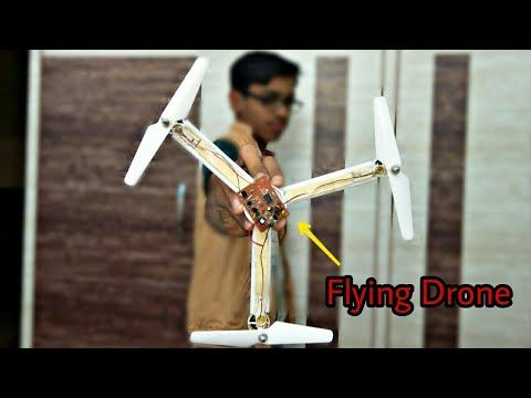 how to make flying tricopter drone at home in easy way - homemade drone - YouTub...