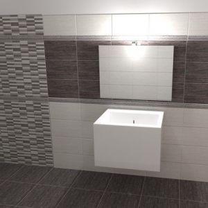 Piastrelle per rivestimento bagno e cucina effetto pietra moderno naxos serie clio