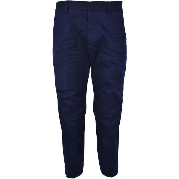 Cropped Chino Trousers ($405) ❤ liked on Polyvore featuring men's fashion, men's clothing, men's pants, men's casual pants, blu, mens blue chino pants, mens blue pants, mens cropped pants, mens chino pants and mens chinos pants