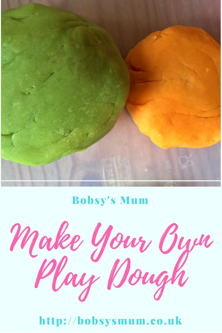 Recipe for homemade playdough